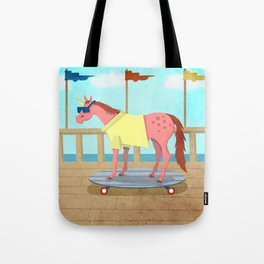 Summer Stroll Unicorn Tote Bag