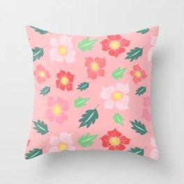 Floral Fiesta Throw Pillow