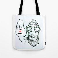 sasquatch Tote Bags featuring Sasquatch say... by Blu Bullvyn