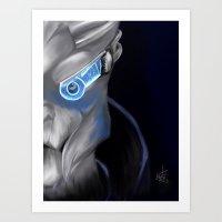 garrus Art Prints featuring Space Boyfriend--Garrus Vakarian by Engineerista
