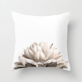Dried Botanical Neutral Hues Throw Pillow