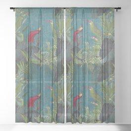 Birds Of Jungle Sheer Curtain