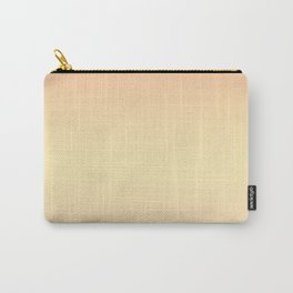Gentle coral, light yellow gradient. Ombre. Carry-All Pouch