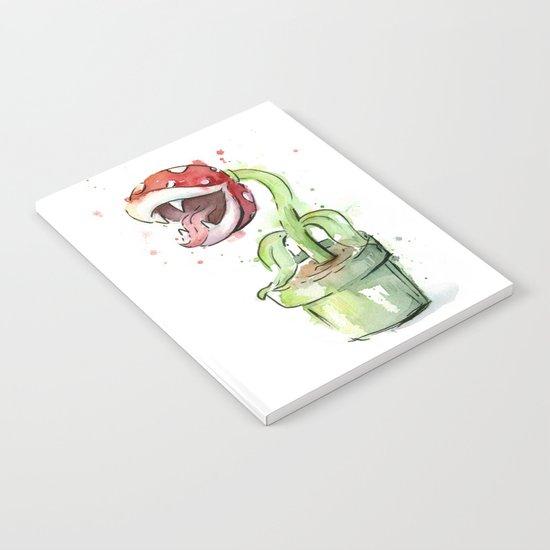 Piranha Plant Art Nintendo Mario Videogame Geek Gaming Notebook