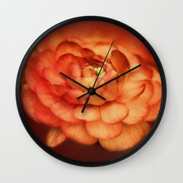 Flower on Fire Wall Clock