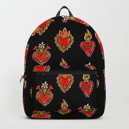 Sacred hearts pattern Backpack