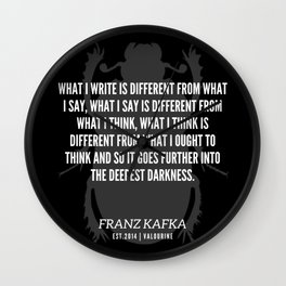 82  |  Franz Kafka Quotes | 190517 Wall Clock