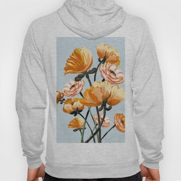 California poppies, Spring flowers warm colors, Hoody