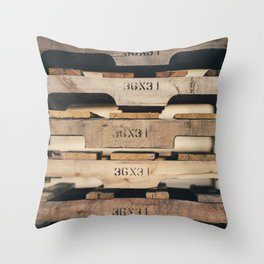 SHADES OF WOOD  Throw Pillow
