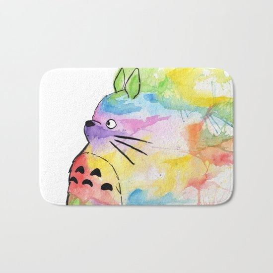 My Rainbow Totoro Bath Mat