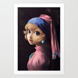 Princess With a Pearl Earring Art Print