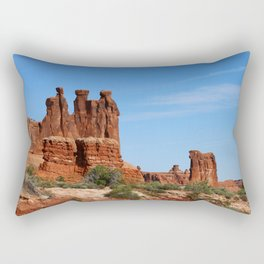 Three Gossips Arches National Park Rectangular Pillow