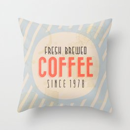 Fresh Brewed Coffee Throw Pillow