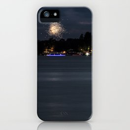 Fireworks Over Lake 13 iPhone Case