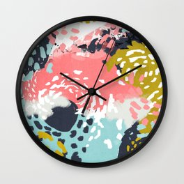 Athena - abstract painting hipster home decor trendy color palette art gifts Wall Clock