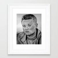 leonardo dicaprio Framed Art Prints featuring Leonardo DiCaprio by CBDB