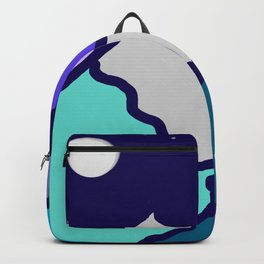 mountains and night sky Backpack