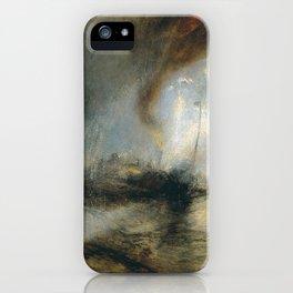 "Tempête de neige en mer ""Snow Storm - Steam-Boat off a Harbour's Mouth"", William Turner, 1842 iPhone Case"