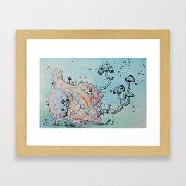 Ocean Fungi Party: Second Framed Art Print