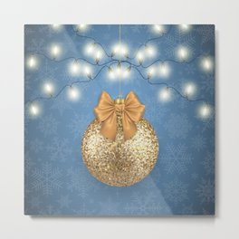 Christmas background Metal Print