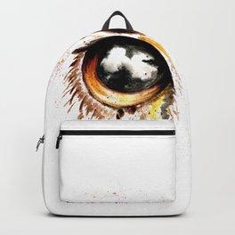 Bown owl eye Backpack