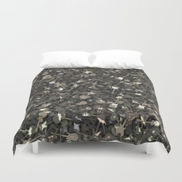Guitar camouflage Duvet Cover
