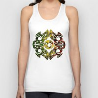maori Tank Tops featuring Rasta Colors on Maori Patterns by Lonica Photography & Poly Designs