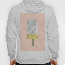 Carrara Italian Marble with Gold Popsicle Hoody