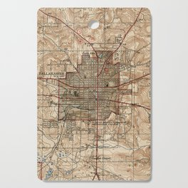 Vintage Map of Tallahassee Florida (1940) Cutting Board