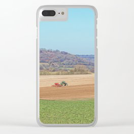 Working the Fields. Clear iPhone Case