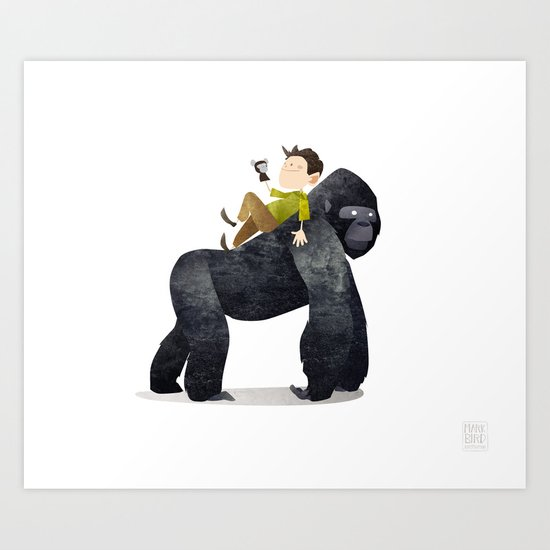 Wild Adventure - Gorilla Art Print