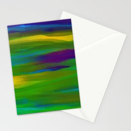 Green Mardi Gras Abstract Stationery Cards