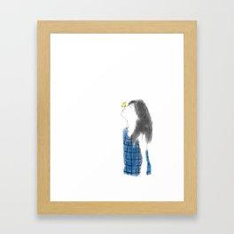 Yellow Butterfly Framed Art Print