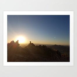 On Top of Camelback Art Print
