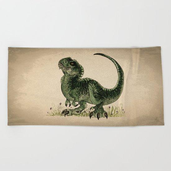 Baby T-Rex Beach Towel