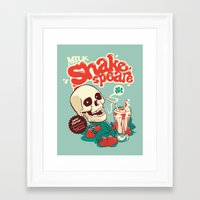 shakespeare Framed Art Prints featuring Milk Shakespeare by Draco