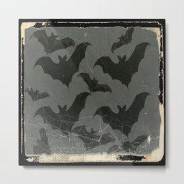 ANTIQUE  SHABBY CHIC  BATS ART DESIGN Metal Print