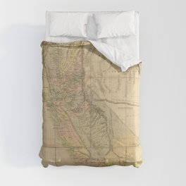 State of California Map (1851) Comforters
