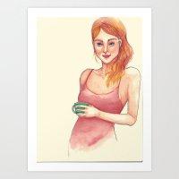 Little red dress Art Print