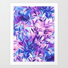Changes Purple Art Print