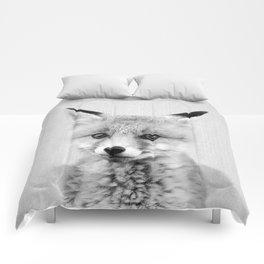 Baby Fox - Black & White Comforters