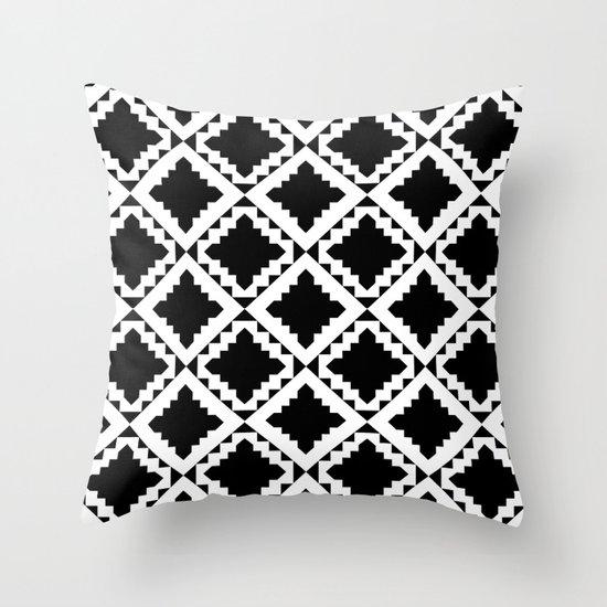 Modern Black Throw Pillow