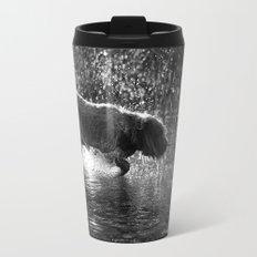 Brown Roan Italian Spinone Dog in Action Travel Mug