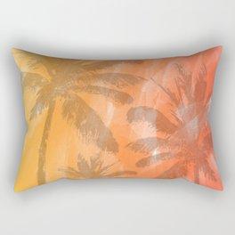 Palm Trees Watercolor Rectangular Pillow
