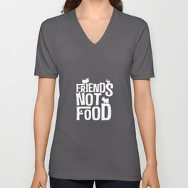 Friends Not Food | Vegan Vegetarian Gifts Unisex V-Neck