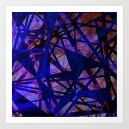 Fading Ley Lines (blue colourway) Art Print