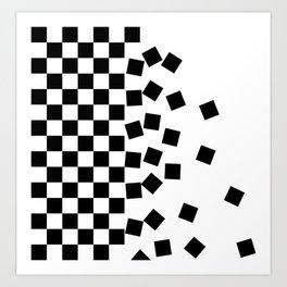Falling Checkers Art Print