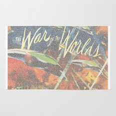 War Of The Worlds Script Print Rug