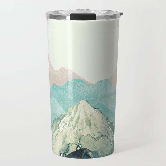 Mountains Landscape Watercolor Travel Mug