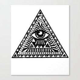 Aztec Illuminati Eyes Fashion Tumblr Vest Tank Top Men Women Unisex illuminati Canvas Print